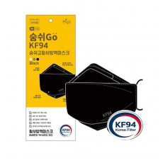 국내산 숨쉬고 KF94 블랙 마스크(50매)